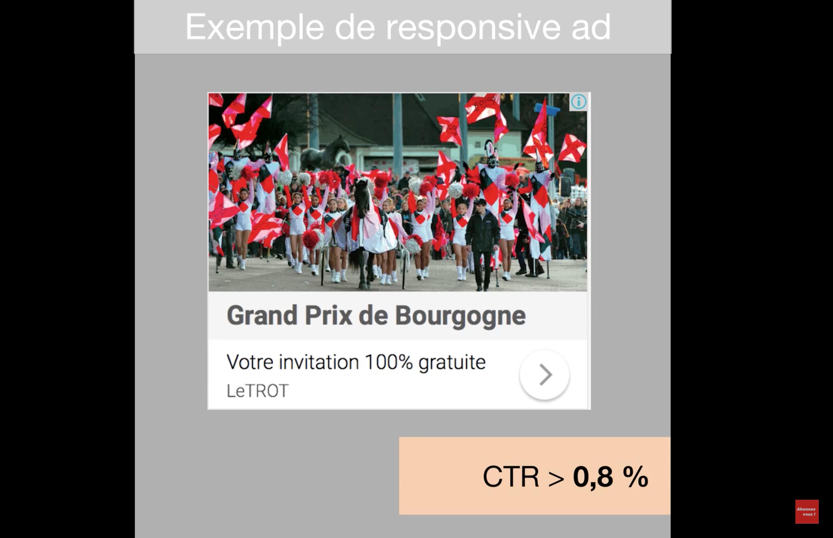 Visuel responsive ads