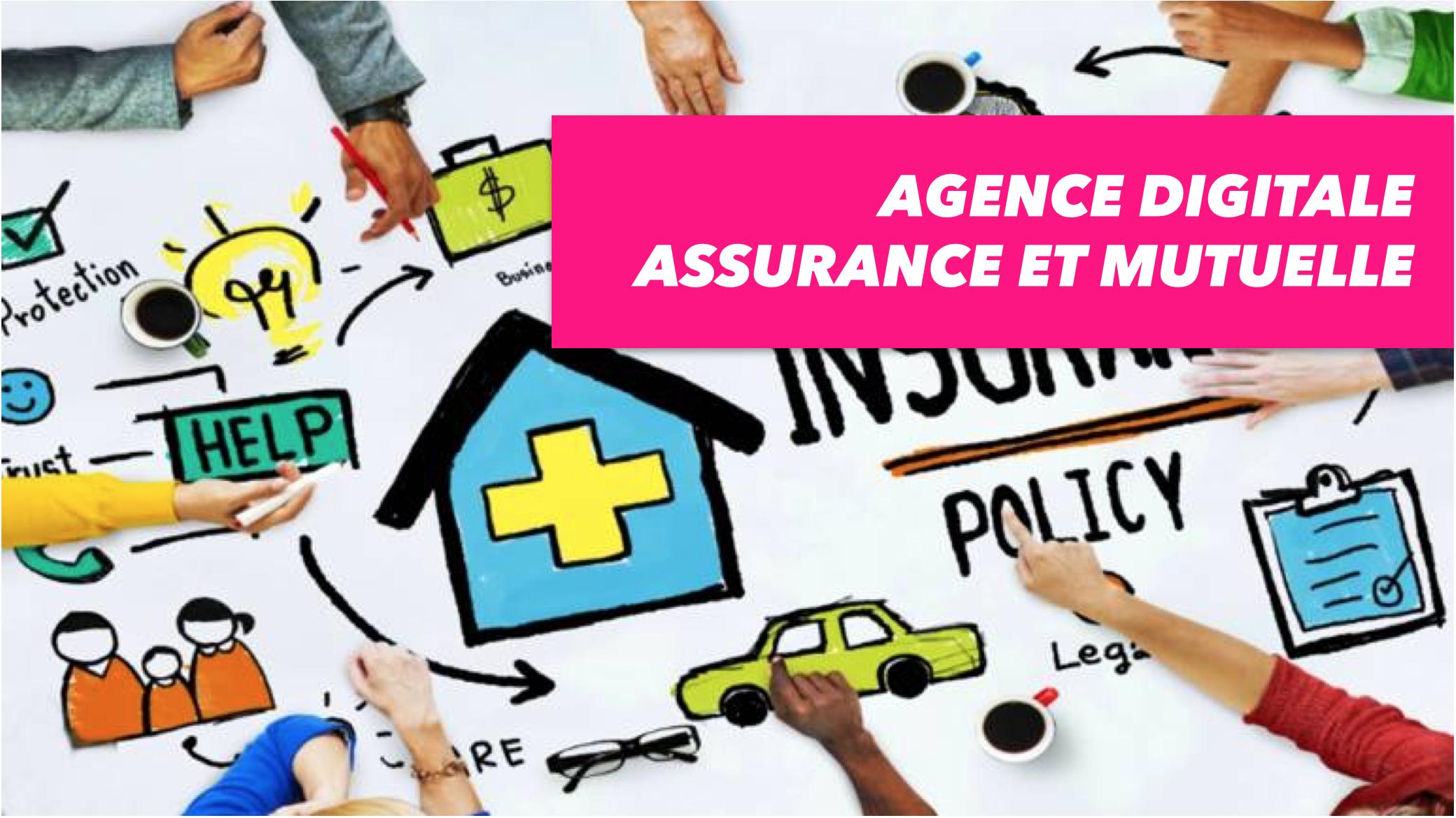 illustration agence digitale assurance