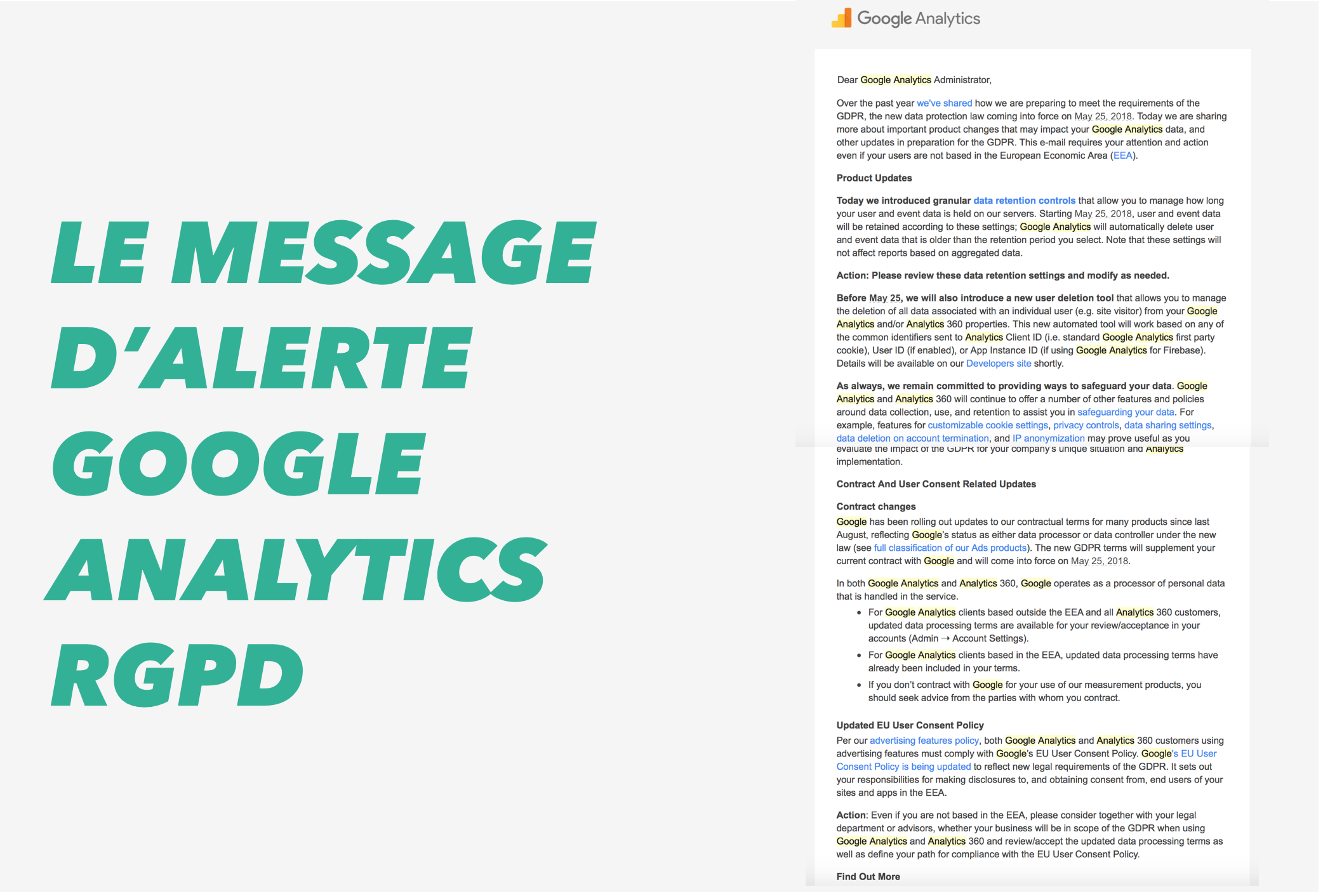 google analytics rgpd