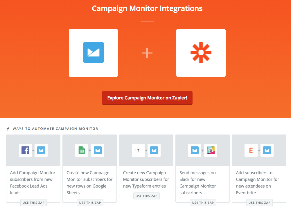 campaign monitor email emailing zapier