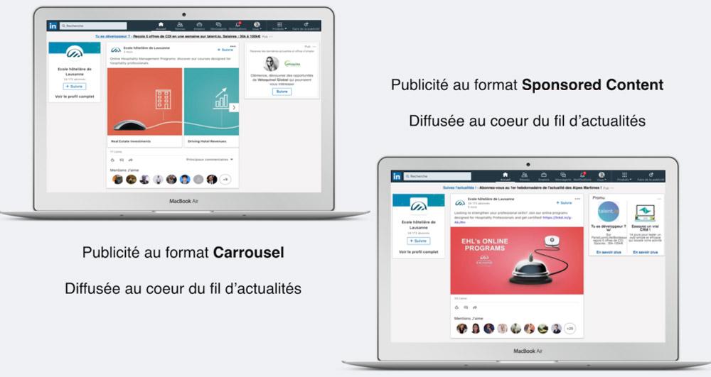 Publicités LinkedIn EHL