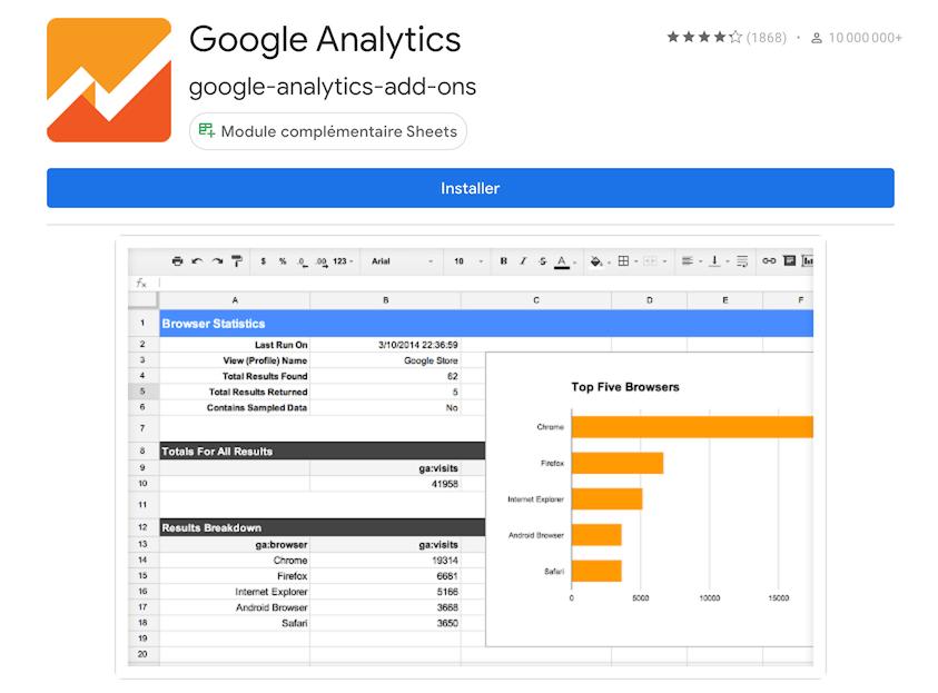Google Analytics Spreadsheet Addon Installation