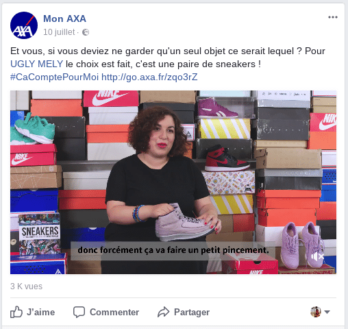 AXA Content Marketing Instagram Influenceur