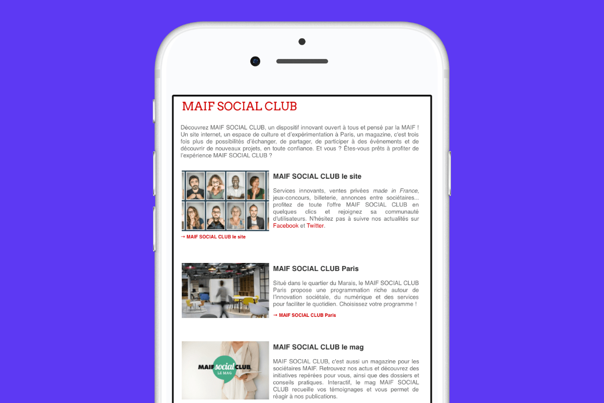 content marketing MAIF Social Club