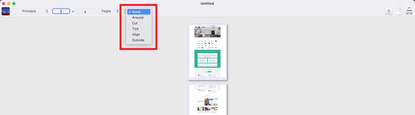 splitprint detail fonctionnalites options imprimer sur feuille A4