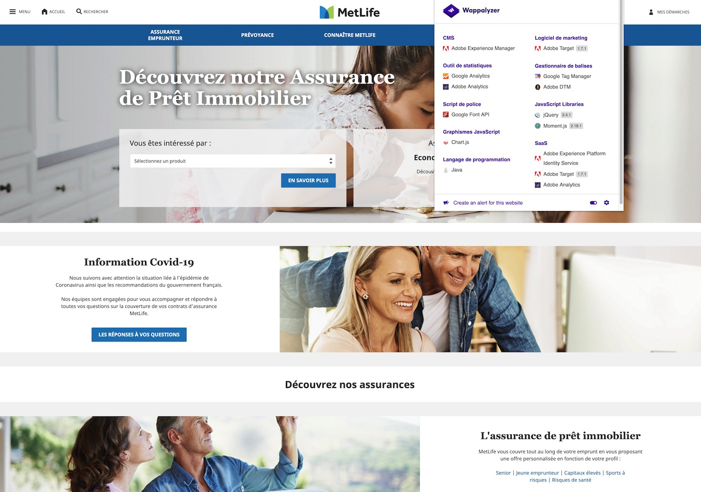 detecter cms site adobe experience manager AEM