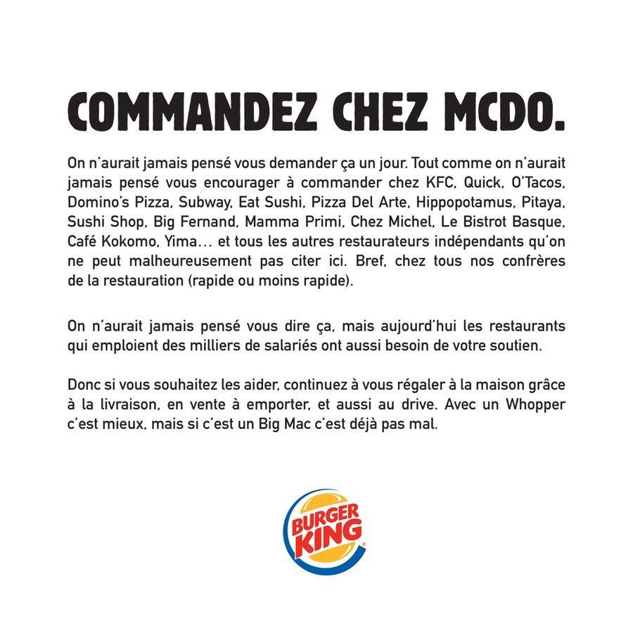 pub burger king commandez allez chez mc do
