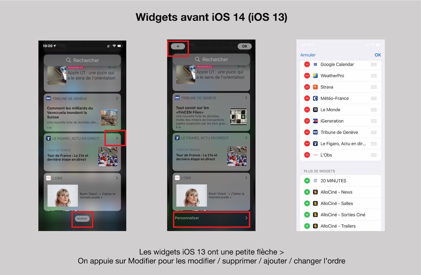 widgets iOS 13