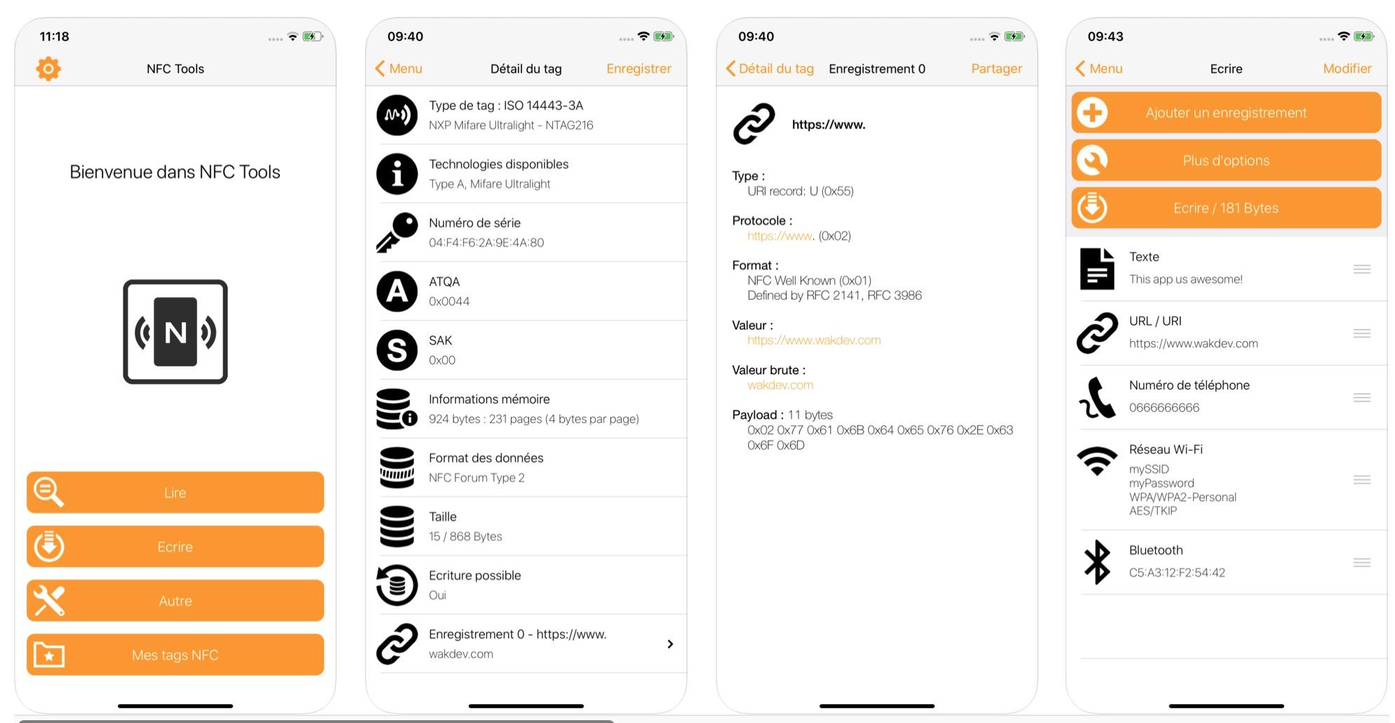 NFC Tools lecteur d etiquette NFC