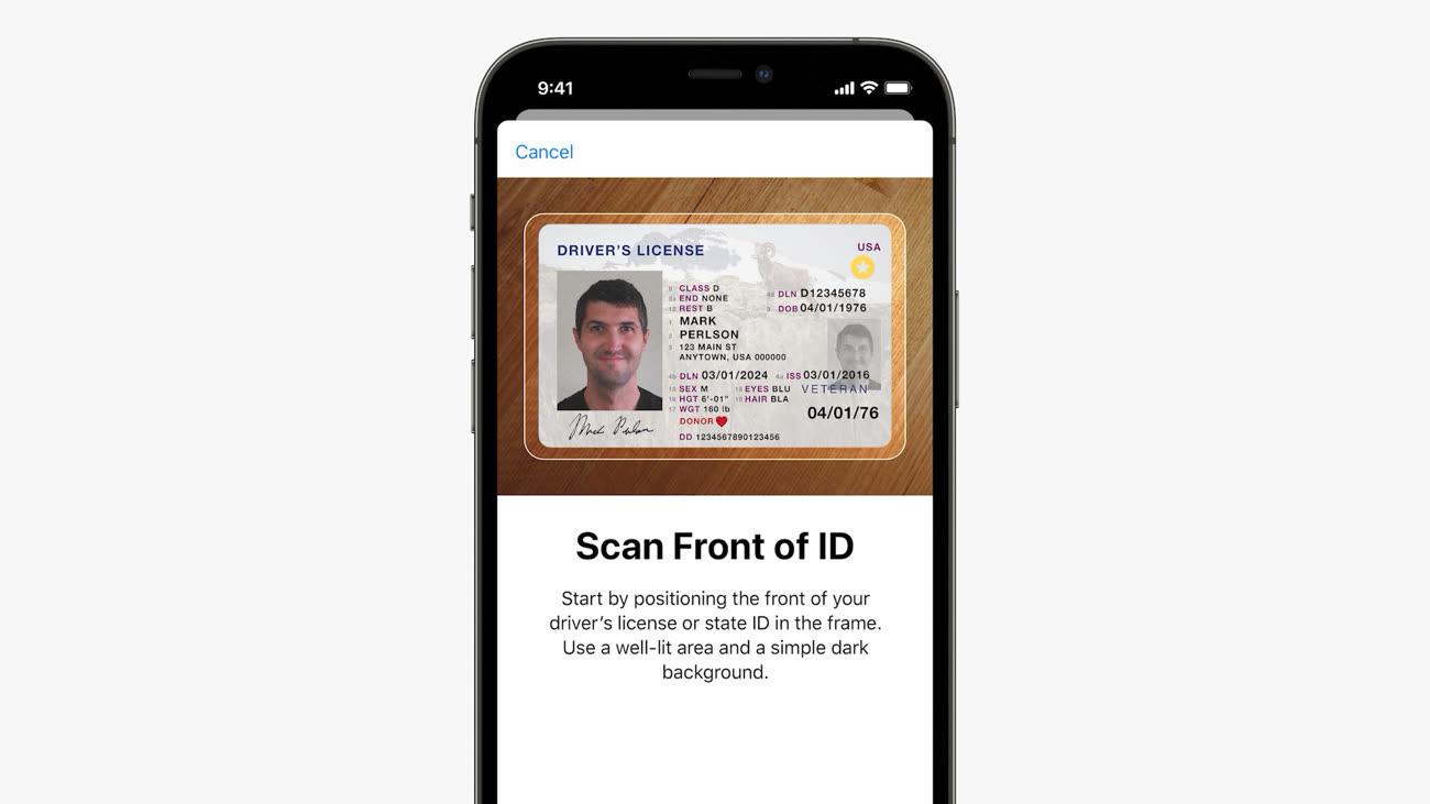 apple ios 15 wallet papiers identité