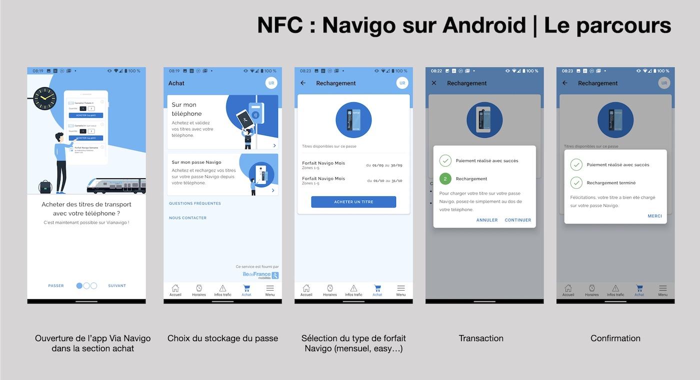 parcours nfc navigo android