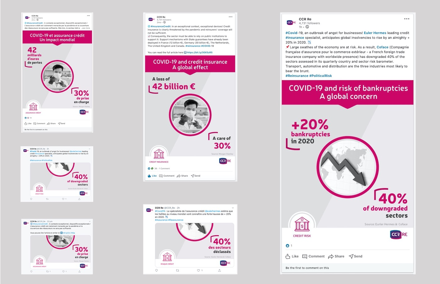 cas client ccr re twitter linkedin infographies