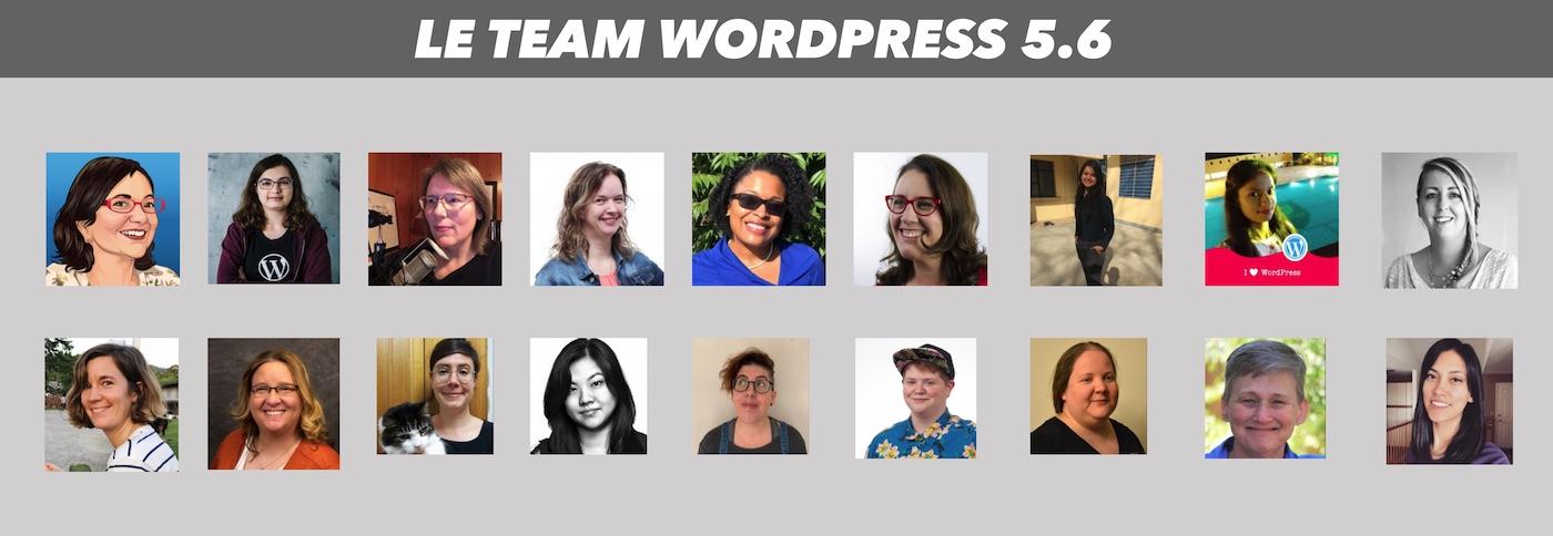 development team wordpress 5 6 100 pourcent feminin