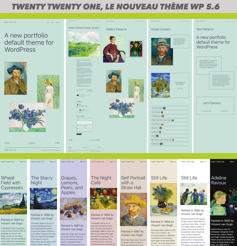 nouveau theme par defaut wordpress 5 6 twenty twenty one