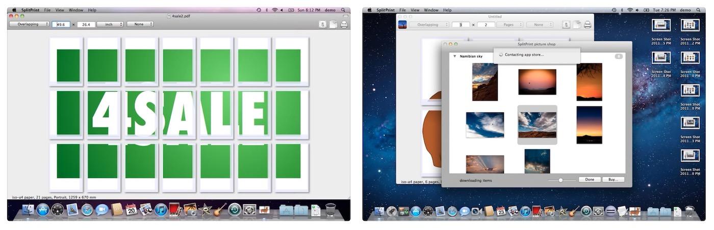 splitprint impression un grand fichier jpg en plusieurs feuilles A4