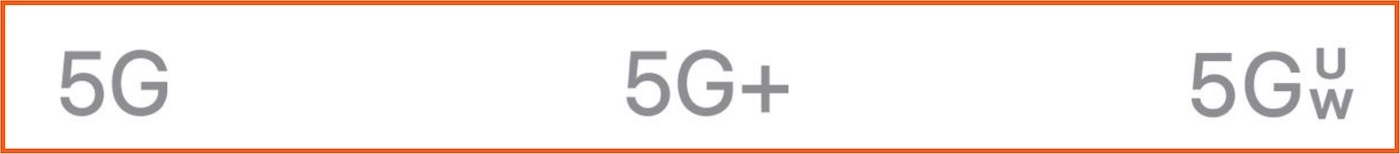 indicateur reseau iphone 5G