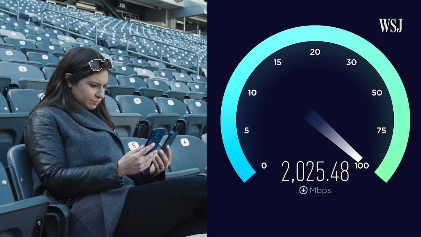 iphone 12 pro 5G mmwave speedtest verizon