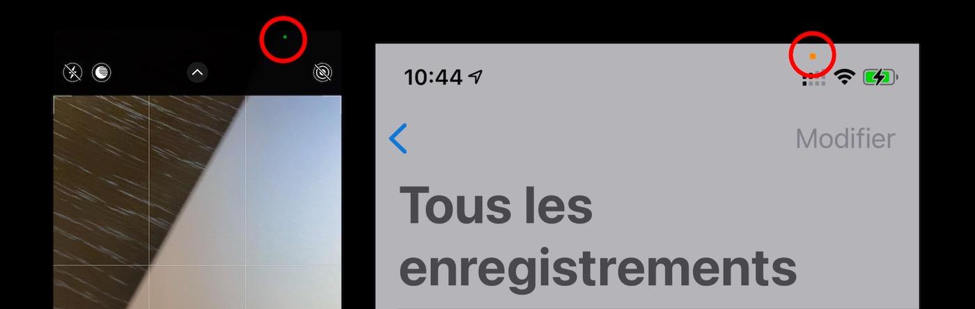 point vert point orange iOS 14
