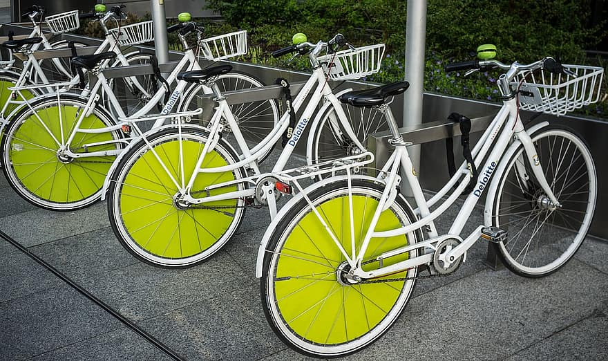 Free floating vélos parking