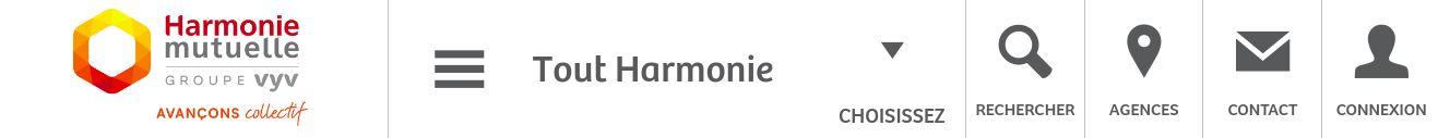 Exemple header HARMONIE MUTUELLE
