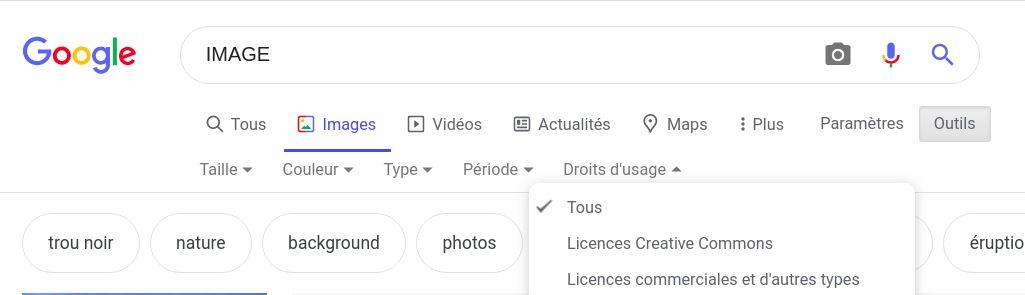 Image Google libre de droit
