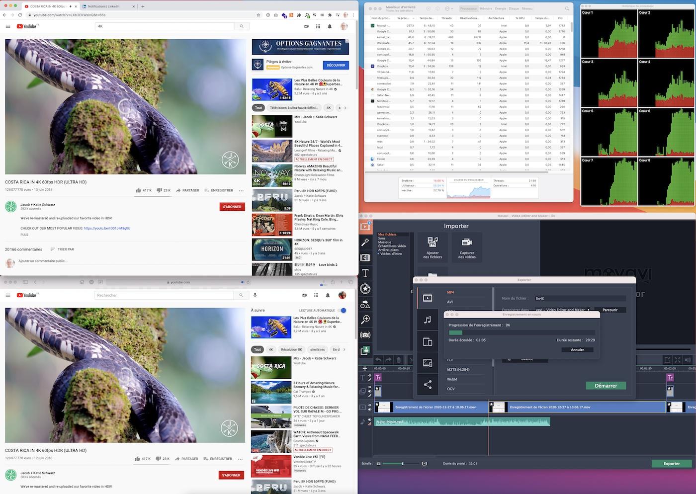 bench M1 video 4HK dropbox encodage