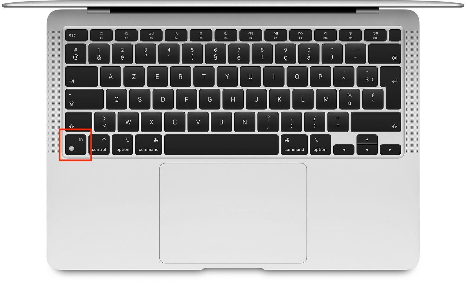 clavier macbook m1 touche emoji