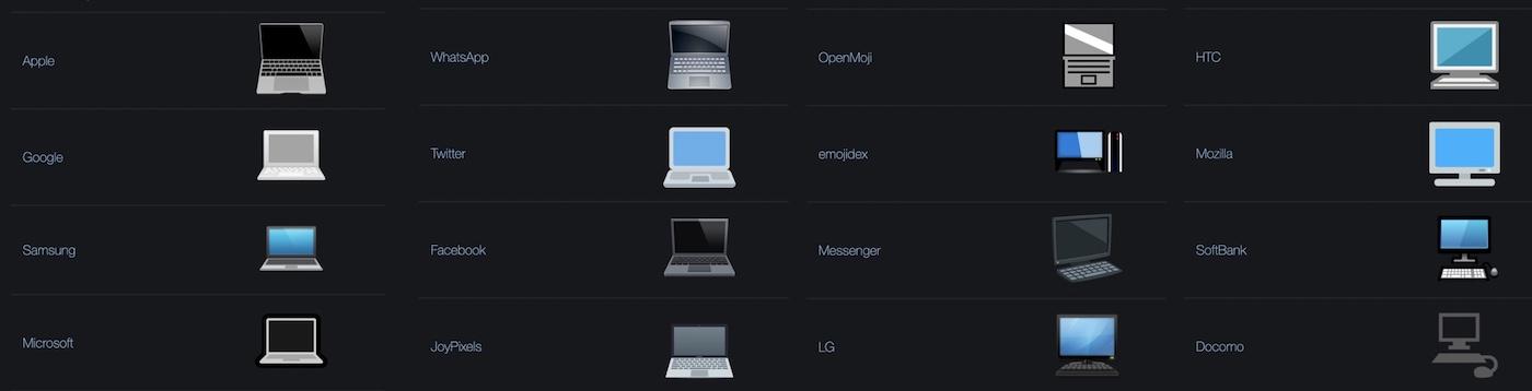emojis apple laptop