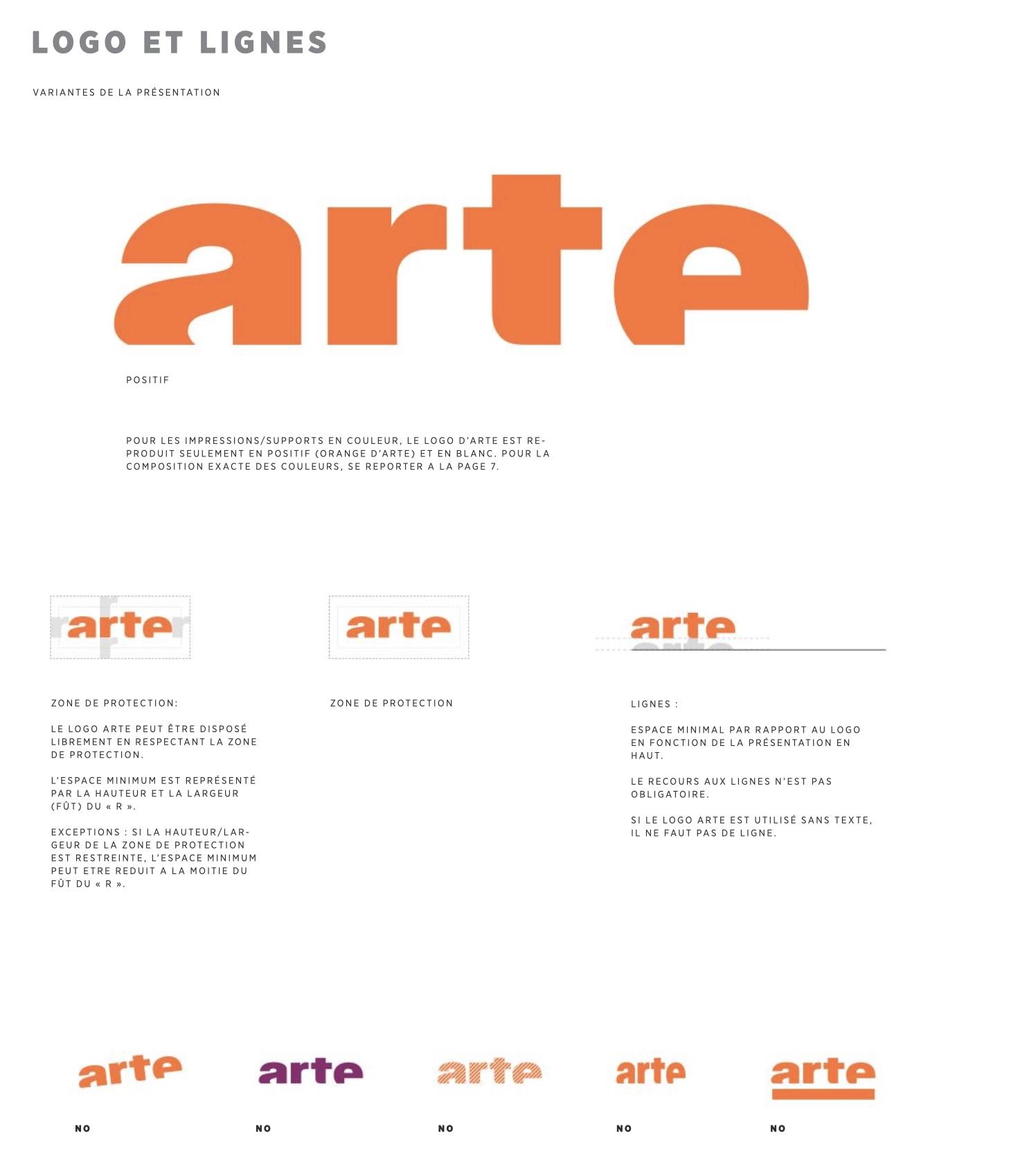 logo chaine tv arte charte