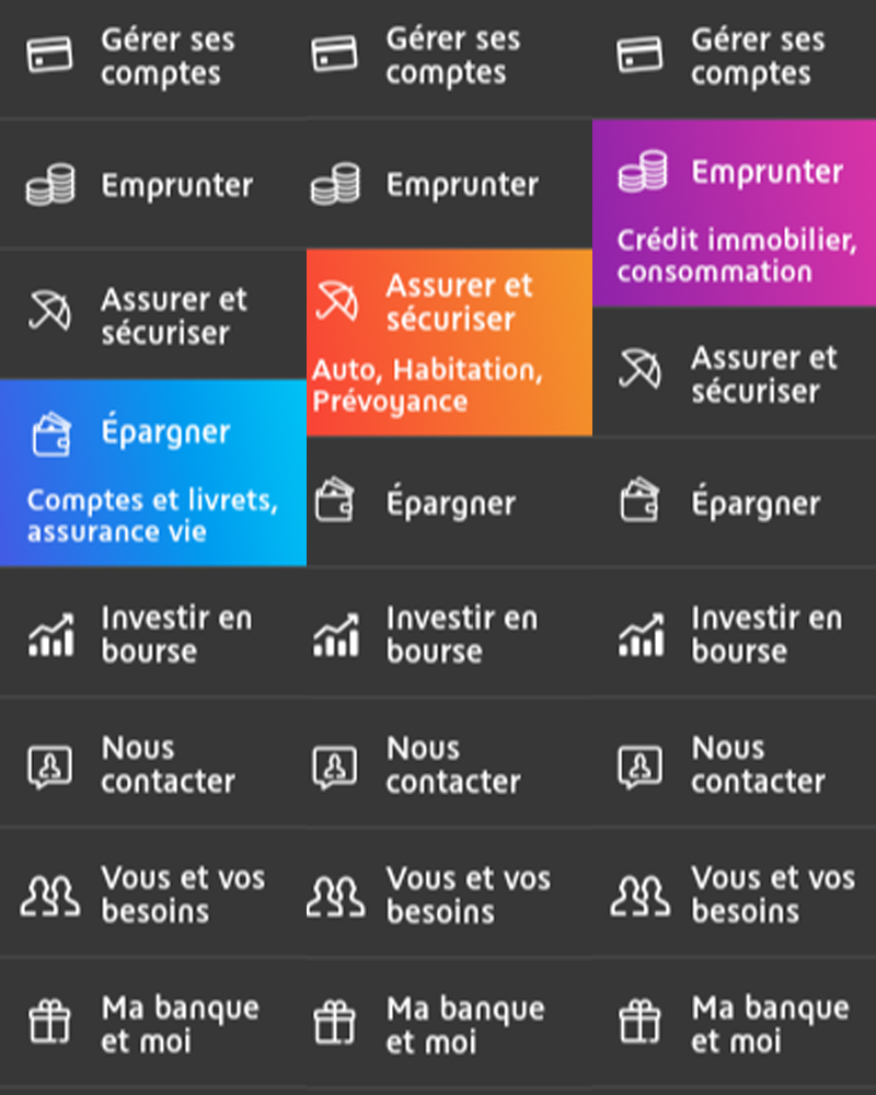 micro interaction bnp menu