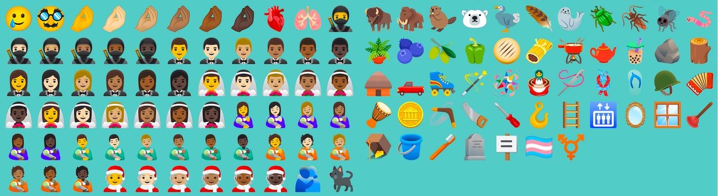 nouveaux emoji android 11