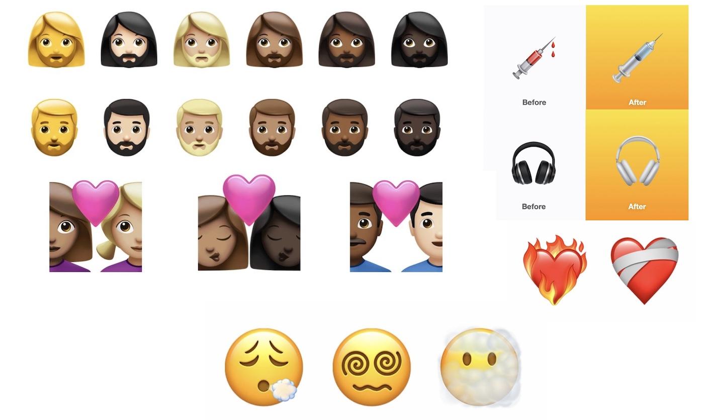 nouveaux emojis iphone ios 14.5