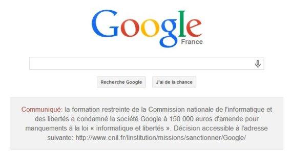 condamnation google cnil fevrier 2014