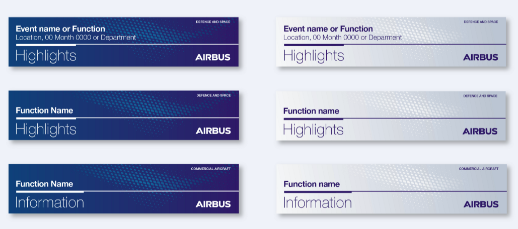 design system airbus email banner