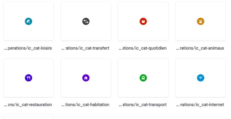 design system icone CA