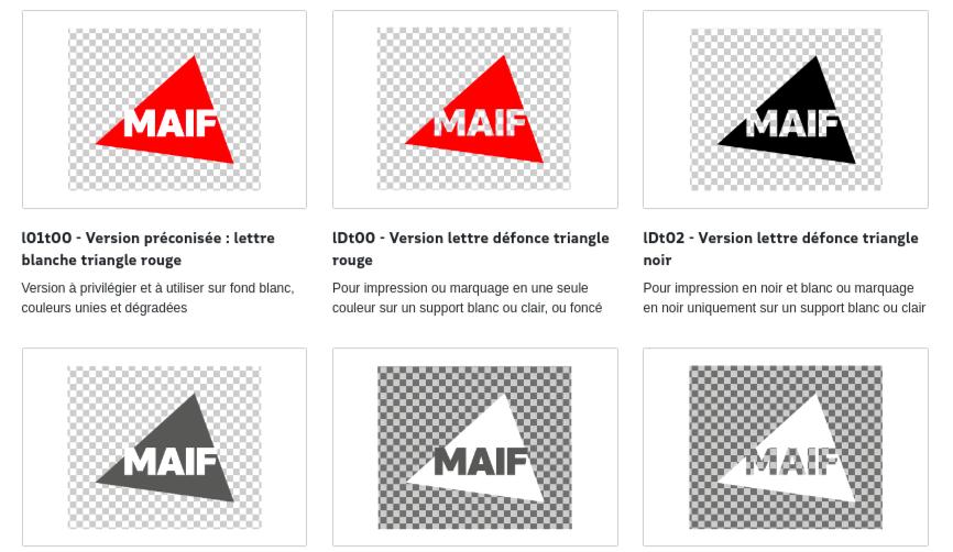 exemple design system maif logo