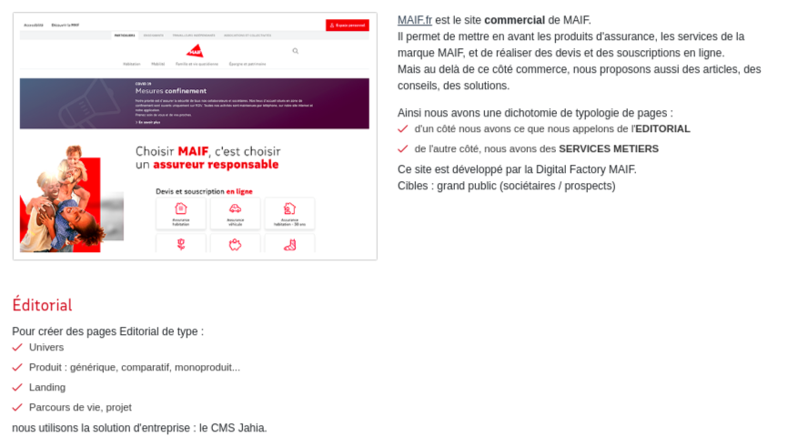 design system maif site web