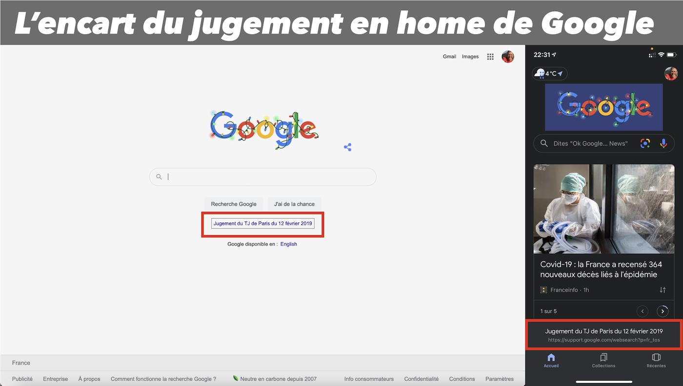 encart jugement TJ Paris 12 fev 2019 home page google france ufc que choisir