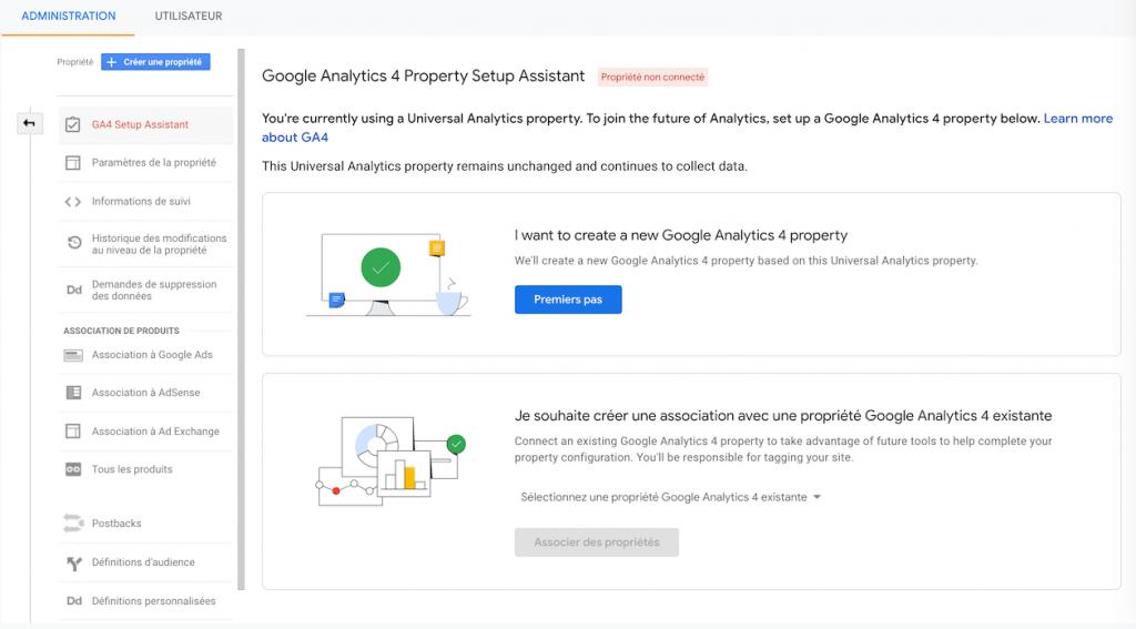 Google Analytics 4 Assistant d'installation