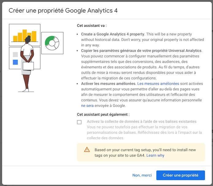 Créer une propriété Google Analytics 4