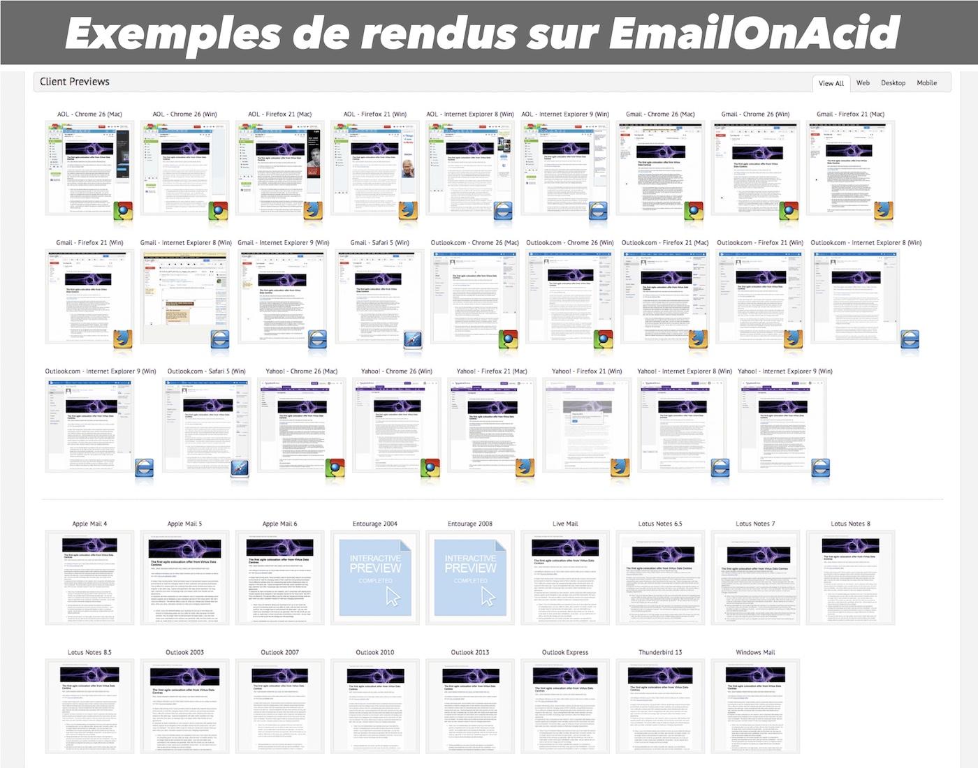 exemples de tests emails sur emailonacid