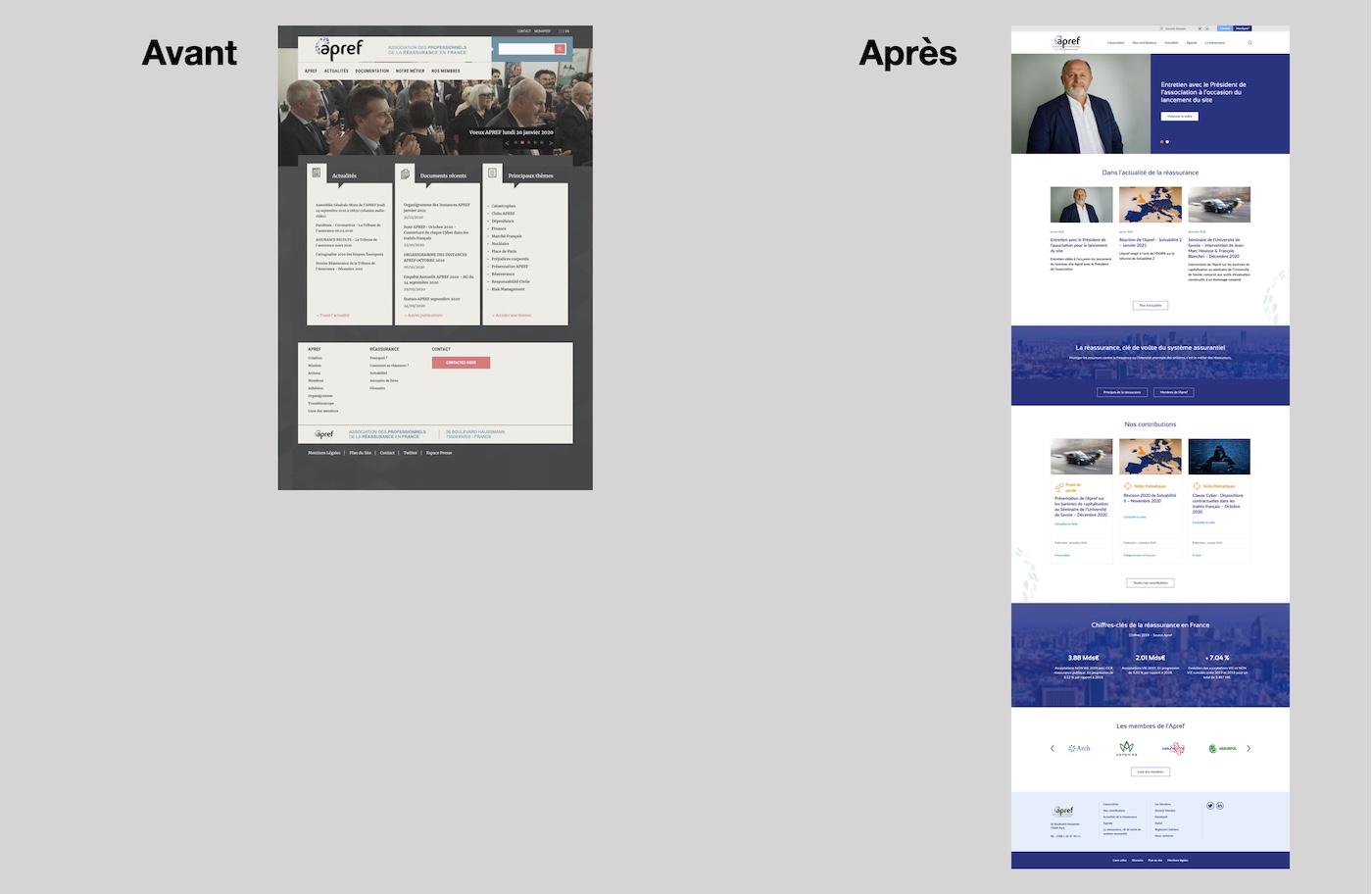 nouveau site web apref reassurance