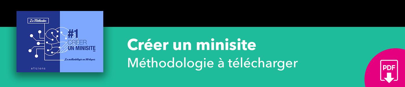 Bannière méthodoc #1 Créer un minisite