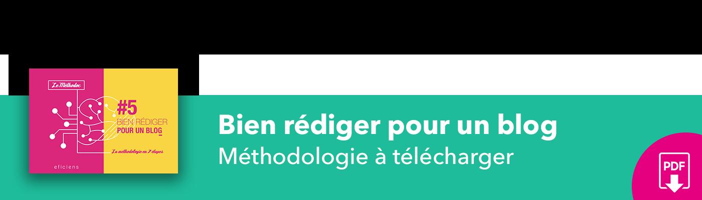 Bannière méthodoc #5 Bien rédiger pour un blog