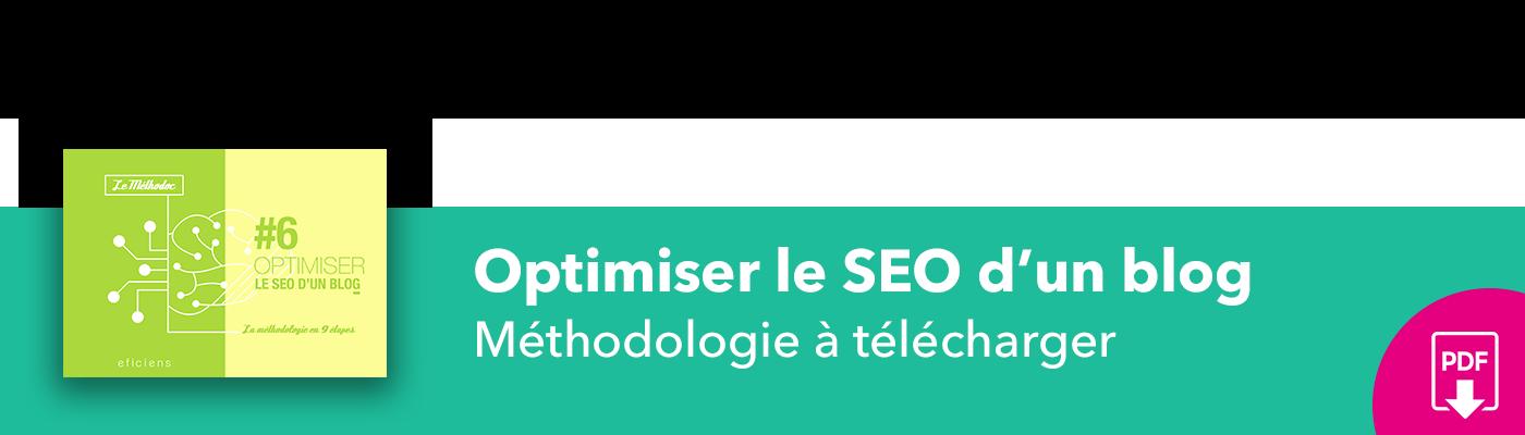 Bannière méthodoc #6 Optimiser le SEO d'un blog