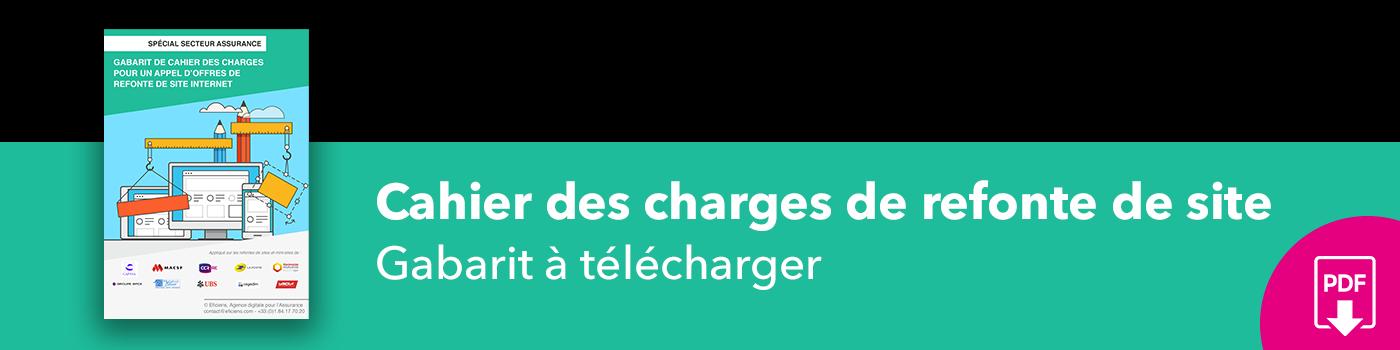 Bannière Gabarit cahier des charges pour appel d'offres de refonte de site web