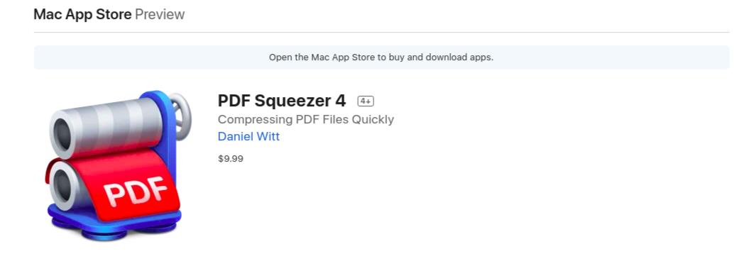 compresser PDF squeezer avec Mac