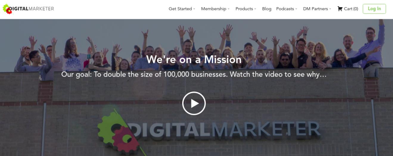 digital marketer exemple Glassmorphism