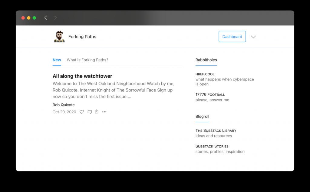 substack liens recommandés nouveau