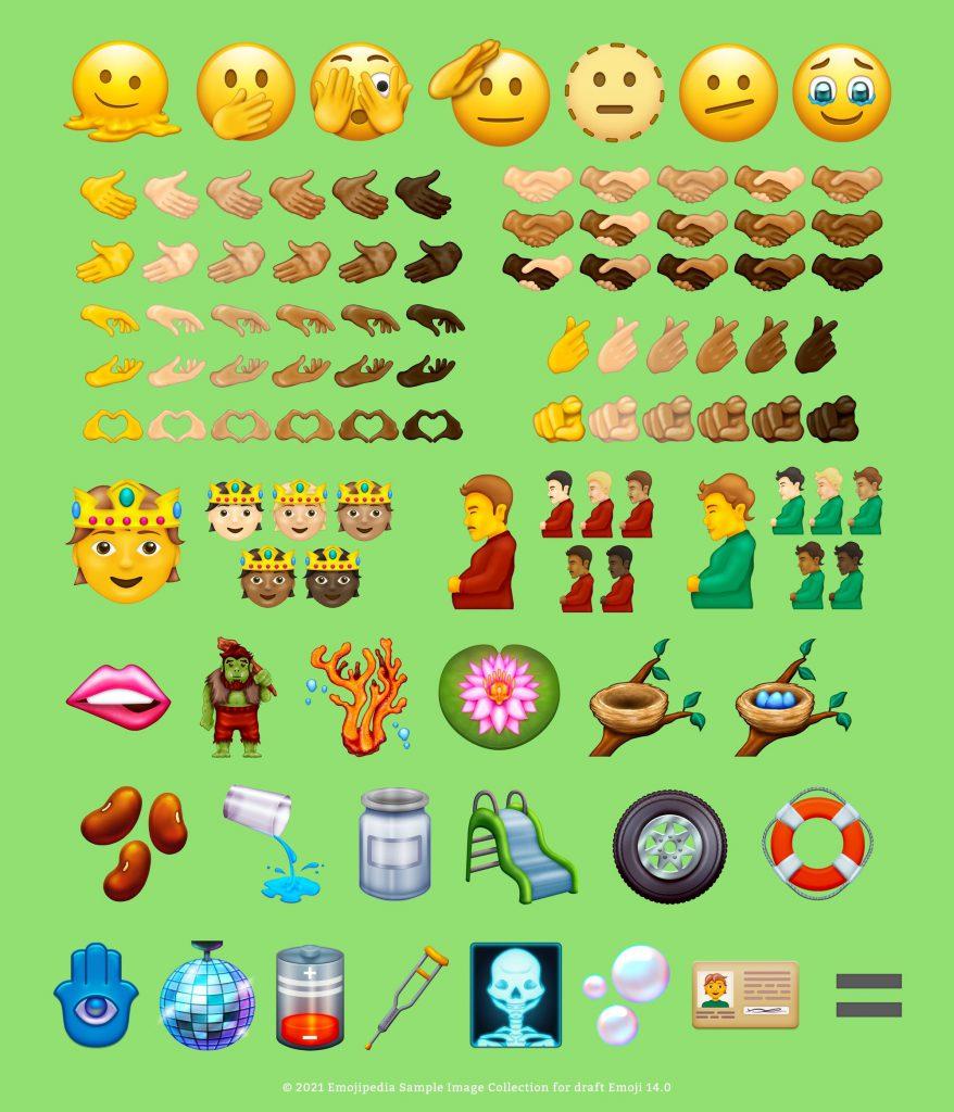 tous les nouveaux emojis 2022